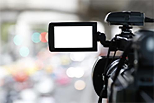 生放送のカメラ